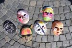 Masken, die beim dritten Veranstaltungsblock entstanden sind