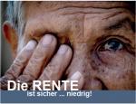 Die Rente ist sicher... niedrig - Bild aus Flyer Kulturseminar
