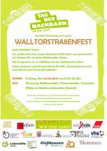Plakat Nachbarschaftsfest